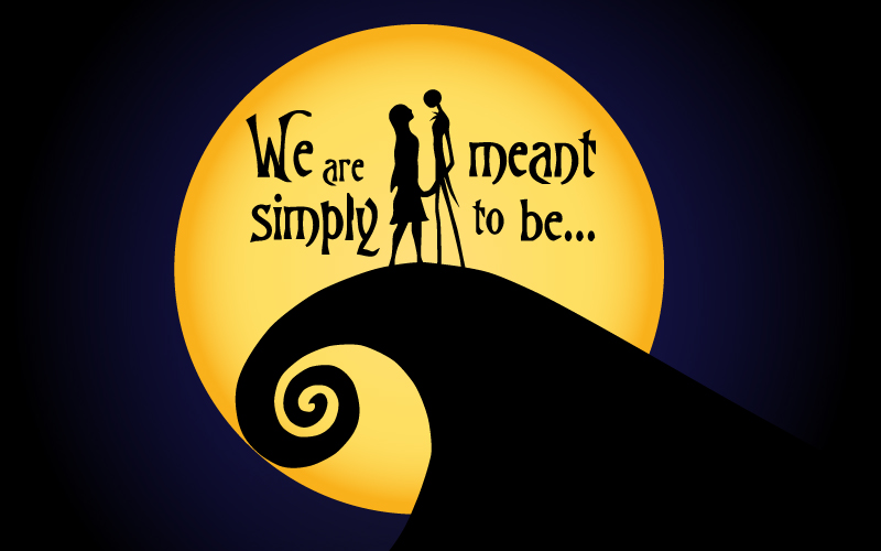 Nightmare Before Christmas Wallpaper Android.Wallpaper Meant To Be Leonardo Sarmanho Design